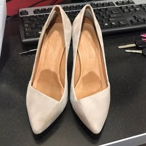 Madewell taupe suede pumps Sz 6